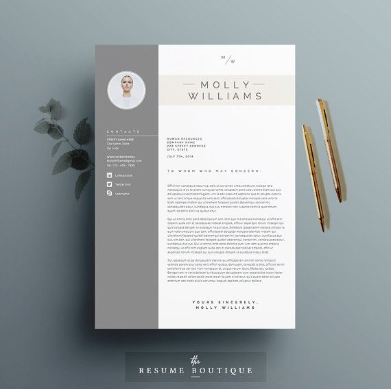 Resume Template 4 page   CV Template + Cover Letter for MS Word ...