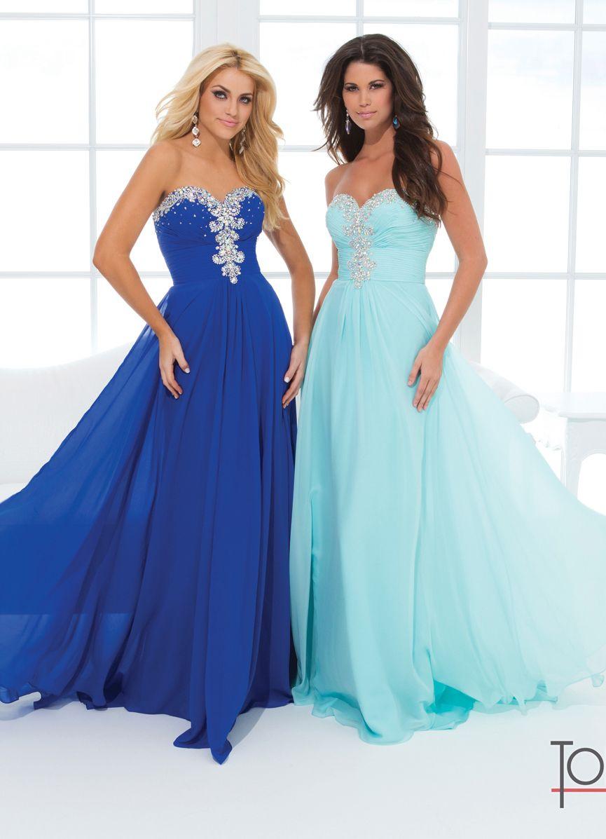 Flowing Tony Bowls Dress 114536 | Tony bowls, Royal blue and Prom