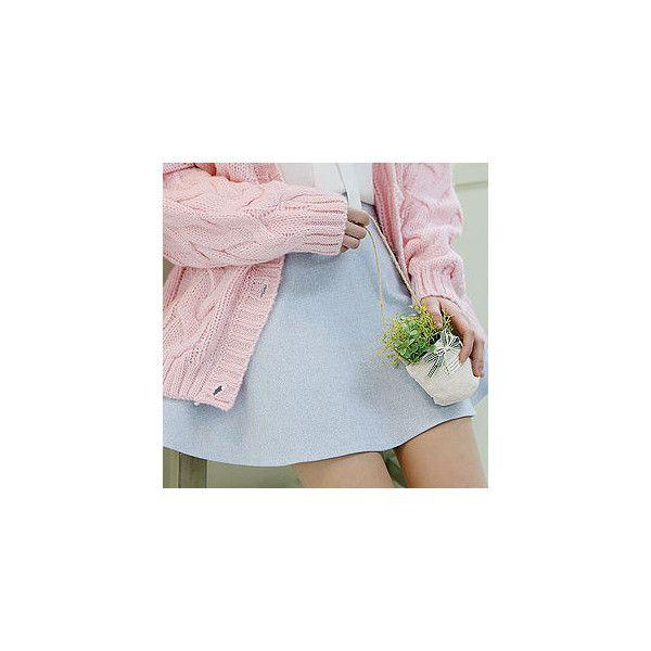 Band-Waist A-Line Skirt ($37) ❤ liked on Polyvore featuring skirts, women, knee length a line skirt, blue a line skirt, blue skirt, sechuna e a line skirt