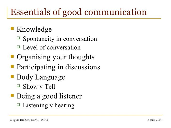 The essentials of communication