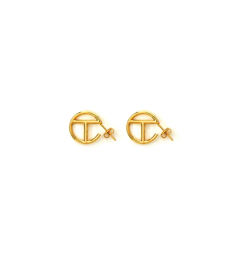 Small Logo Hoop Earring Gold Earrings Hoop Earrings Gold Earrings