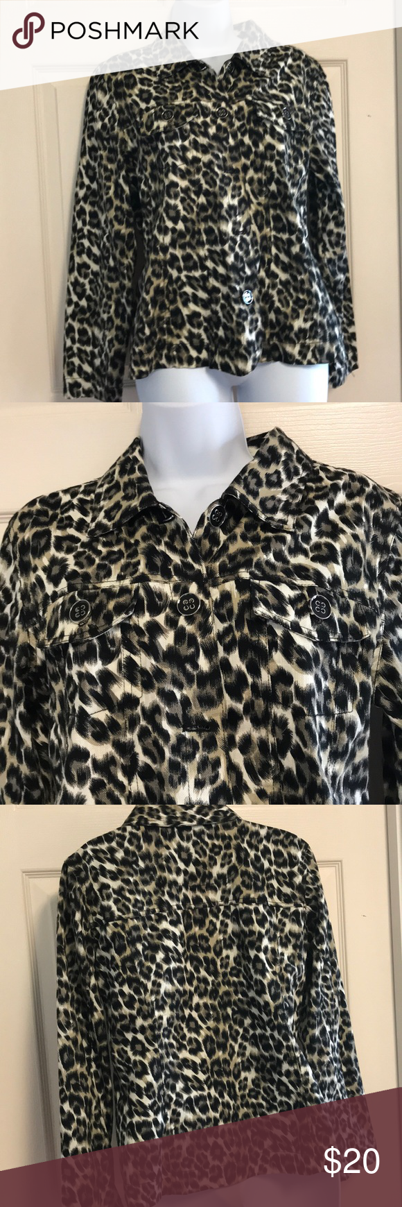 Black & taupe animal print jacket