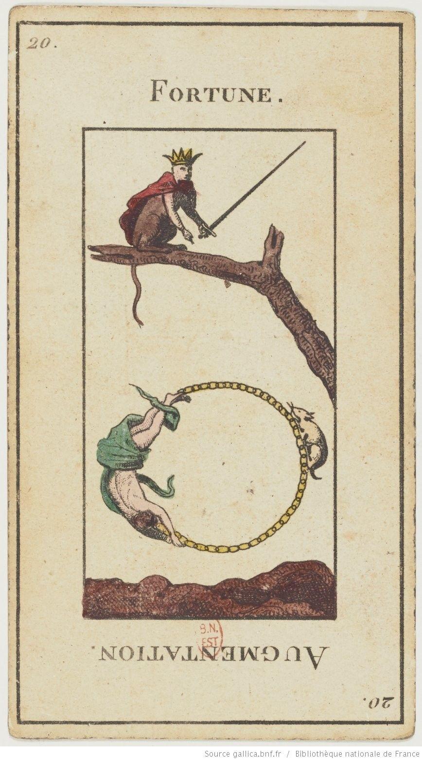 "Jeu de tarot divinatoire dit ""Grand Etteilla"" ou ""tarot égyptien""] : [jeu de cartes, estampe] 1880-1890"