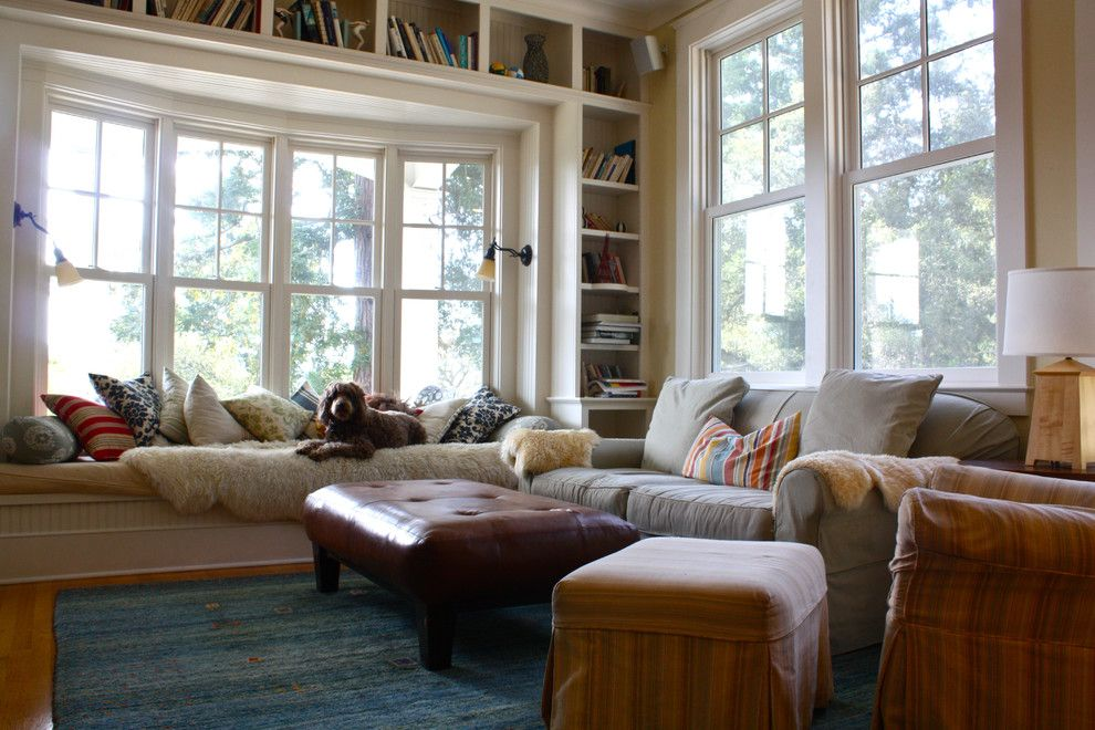 Family Room  Traditional  Family Room  San Francisco  Shannon Fair Bay Window Living Room Design 2018