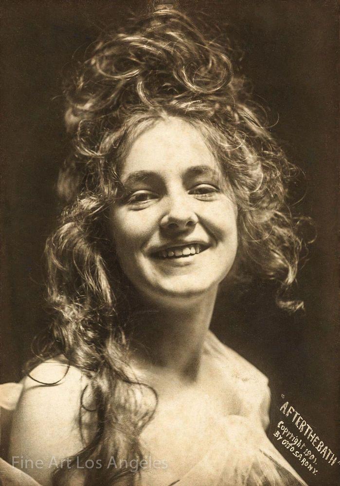 "Otto Sarony Photo, Evelyn Nesbit, ""After the Bath"", 1901 ..."