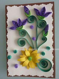 tarjetas de flores en filigrana:
