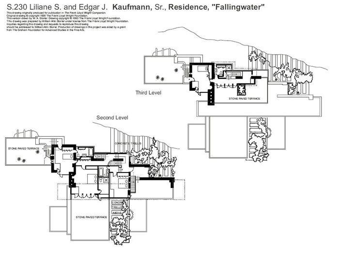 落水山莊 結構 - Bing 圖片 Edgar J Kaufmann, residence - plans maisons gratuit logiciel dessin plan maison
