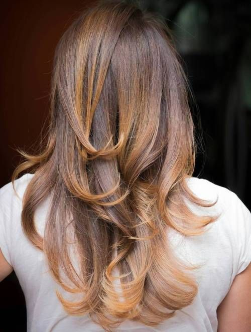 Brown Hair With Golden Blonde Highlights Hair And Beauty