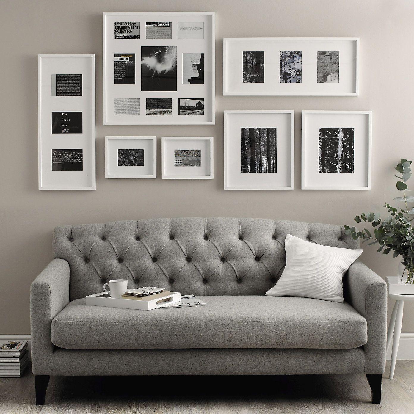 Slim Wooden Photo Frame 3 Aperture 5x7 | The White Company