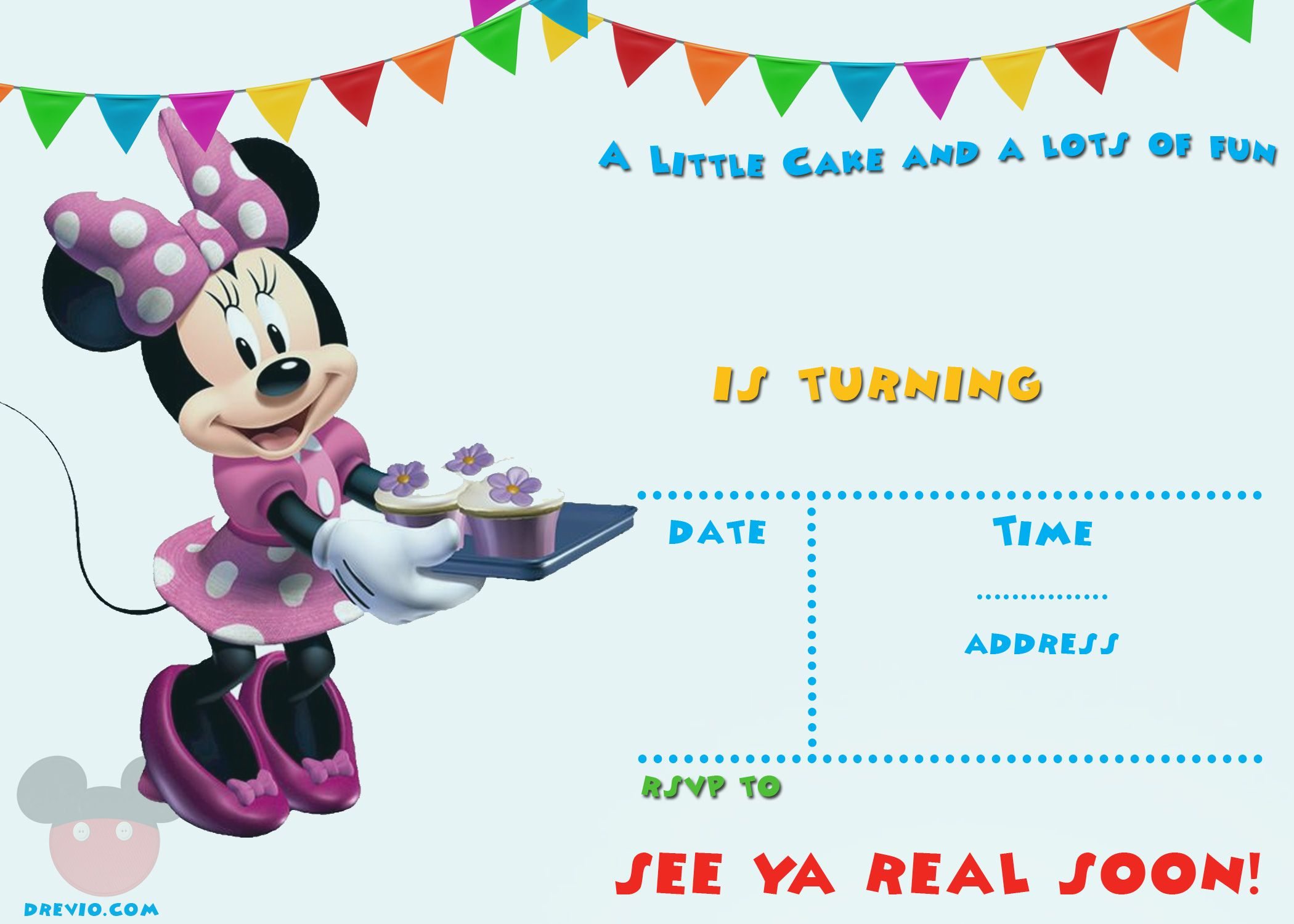 Get FREE Printable Mickey Mouse Party Invitation Template | Free ...