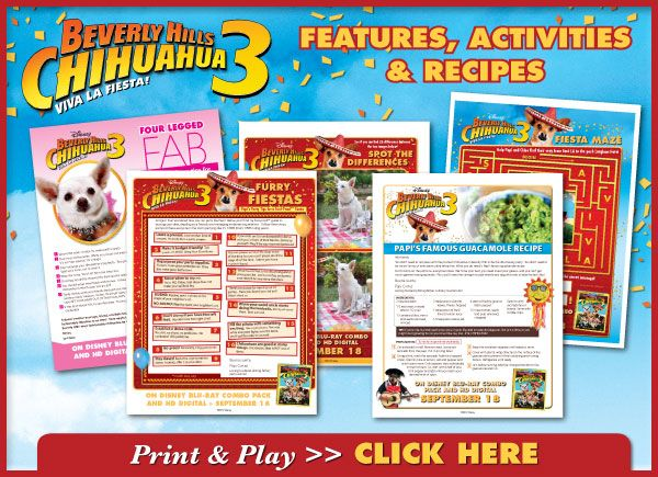 BEVERLY HILLS CHIHUAHUA 3: Viva La Fiesta! FREE Downloadble Activity Sheets
