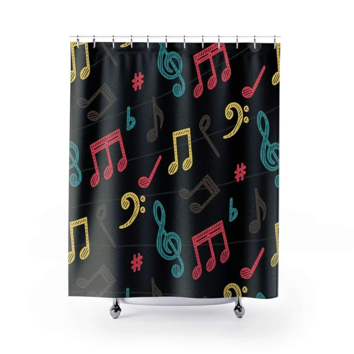 Music Note Shower Curtain Music Notes Shower Curtains
