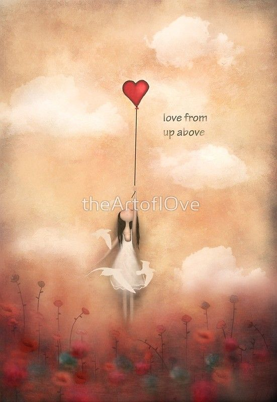 love from up above  :) from my heart balloon collection of paintings inspired by love ,life, and freedom  -acrylic on canvas / Copyright © Amanda cass. All rights reserved My images may not be reproduced in any form without my written permission. • Also buy this artwork on wall prints, stickers, phone cases, and more.