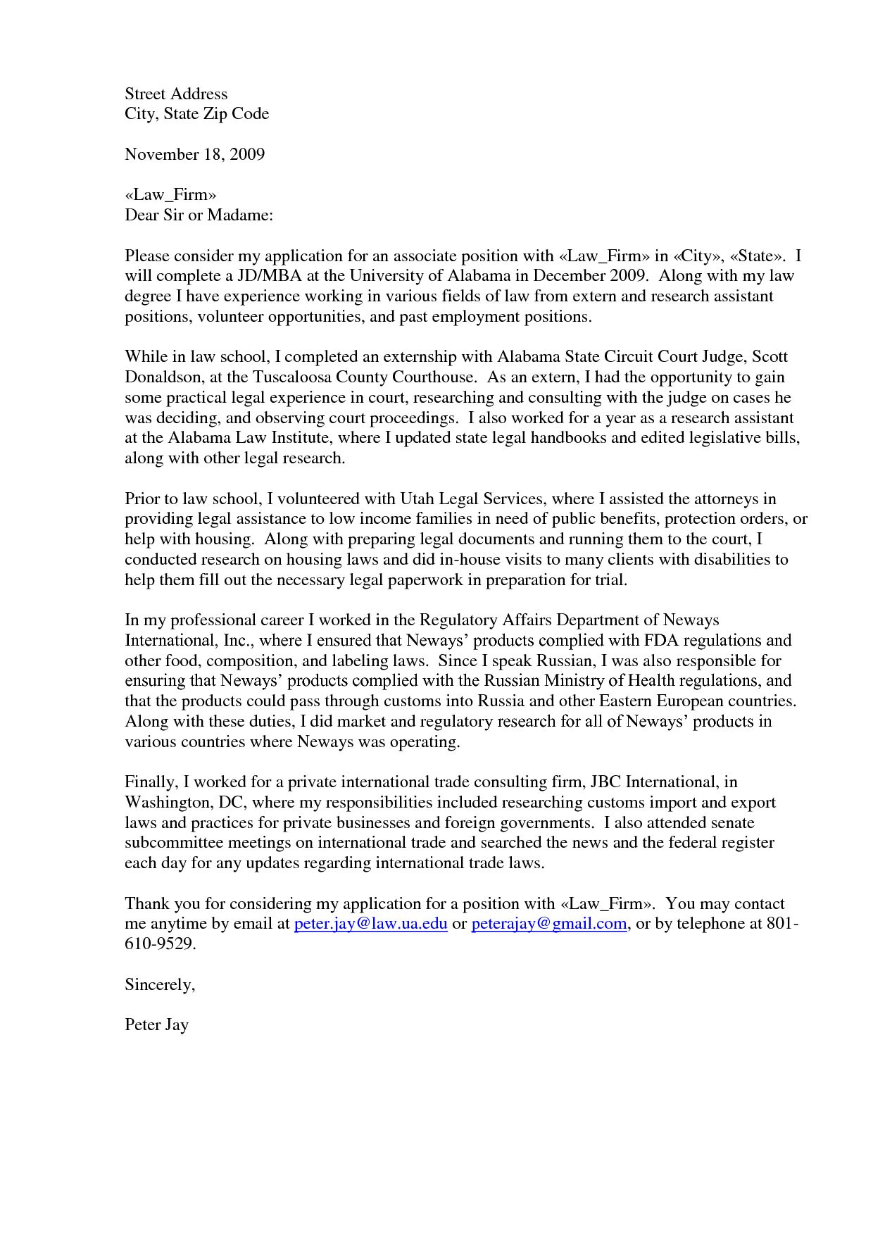 23+ Cover Letter For Law Firm | Cover Letter Resume | Pinterest ...