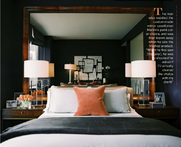 Dark Gray Blue Bedroom how to brighten a room w/ little natural light? | dark gray