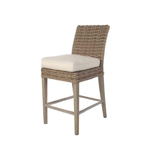 Lau Counter Height Armless Stool Is Offered In Wicker With A Driftwood Or Chestnut Finish