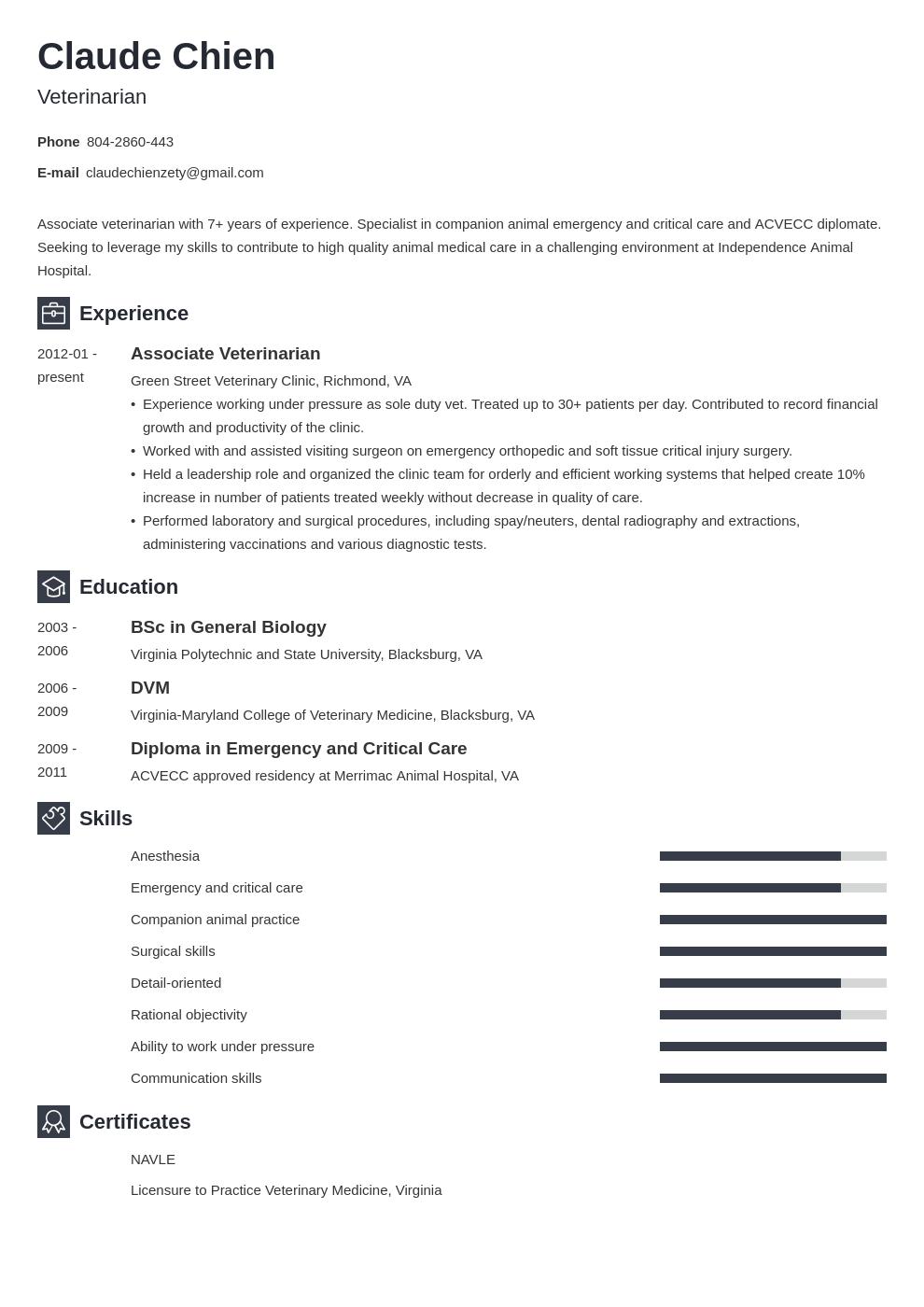 Veterinarian Resume Example Template Newcast Resume Examples Job Resume Examples Resume