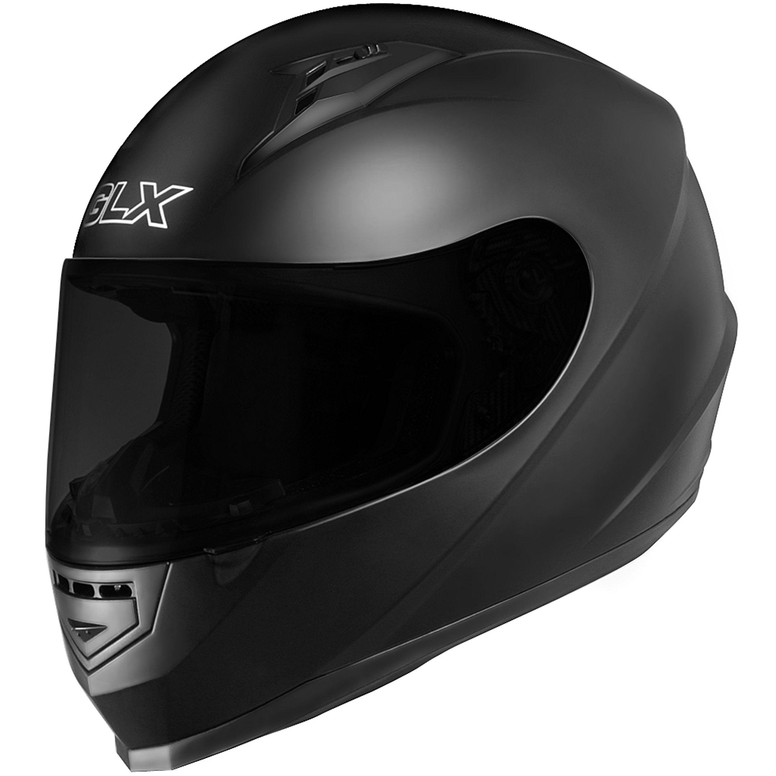 GLX Full Face Motorcycle Helmet Street Sport Bike DOT