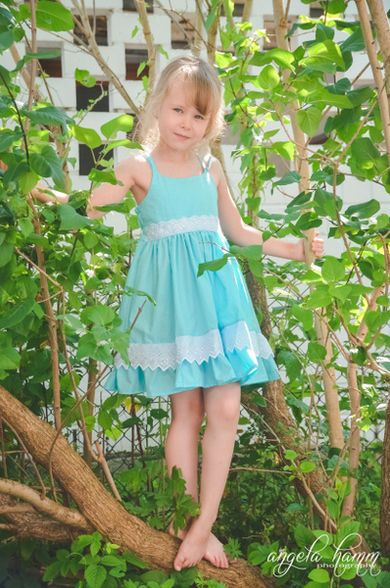 Beautiful, easy and modern child sewing PDF patterns Bella\'s Dress ...