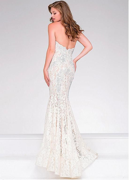 Romantic Lace Sweetheart Neckline Mermaid Evening Dresses With Lace ...