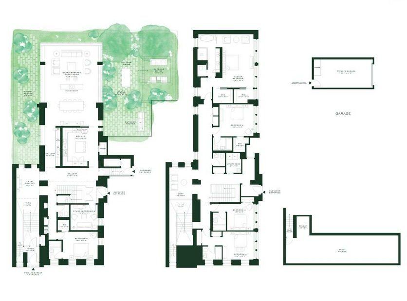 Kim Kardashian Kanye West Consider Ritzy Downtown Homes Kim And Kanye House Town House Floor Plan Kim Kardashian Home