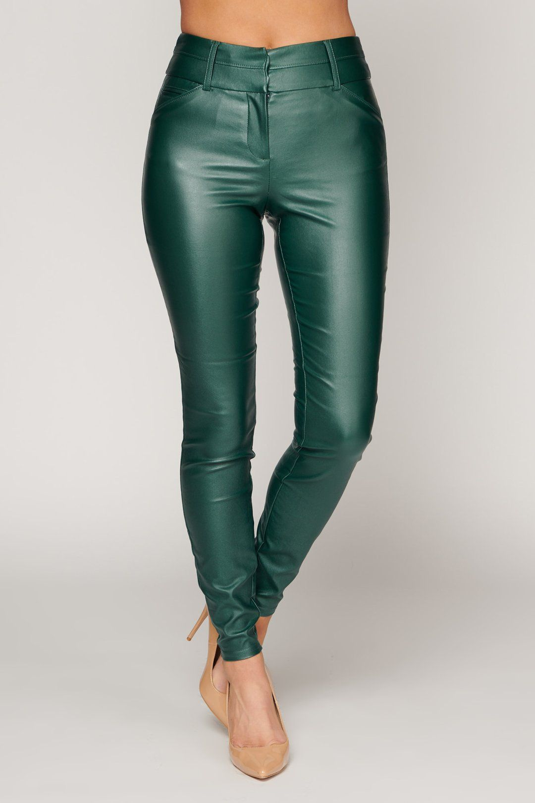 What You Do To Me Faux Leather Pants Hunter Green Leather Pants Faux Leather Pants Leather Pants Outfit