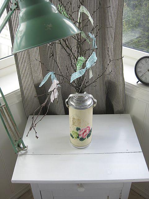 Thermal flask vase