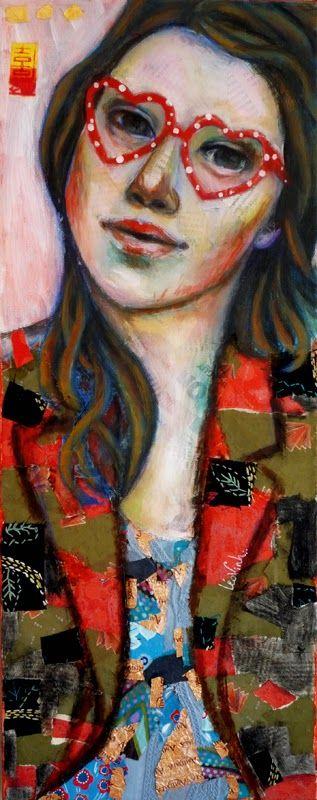 Stella- mixed media art on canvas- Leo-Vinh- 2014 50x20cm