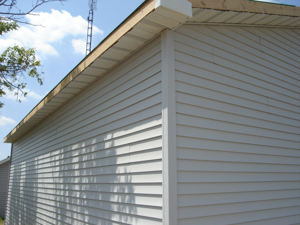 Siding & Soffit 24 x 30 pole barn garage construction
