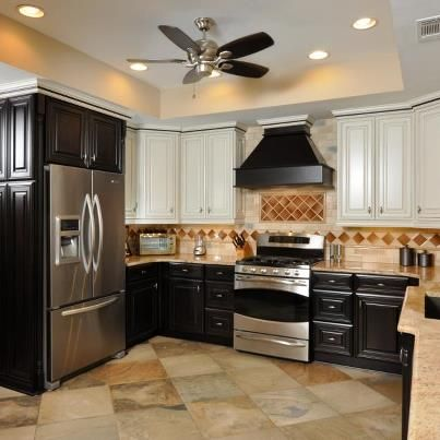 A New Kitchen Cabinet Look In A Dark Espresso Stain And A Painted Alluring New Design Kitchen Cabinet Design Inspiration