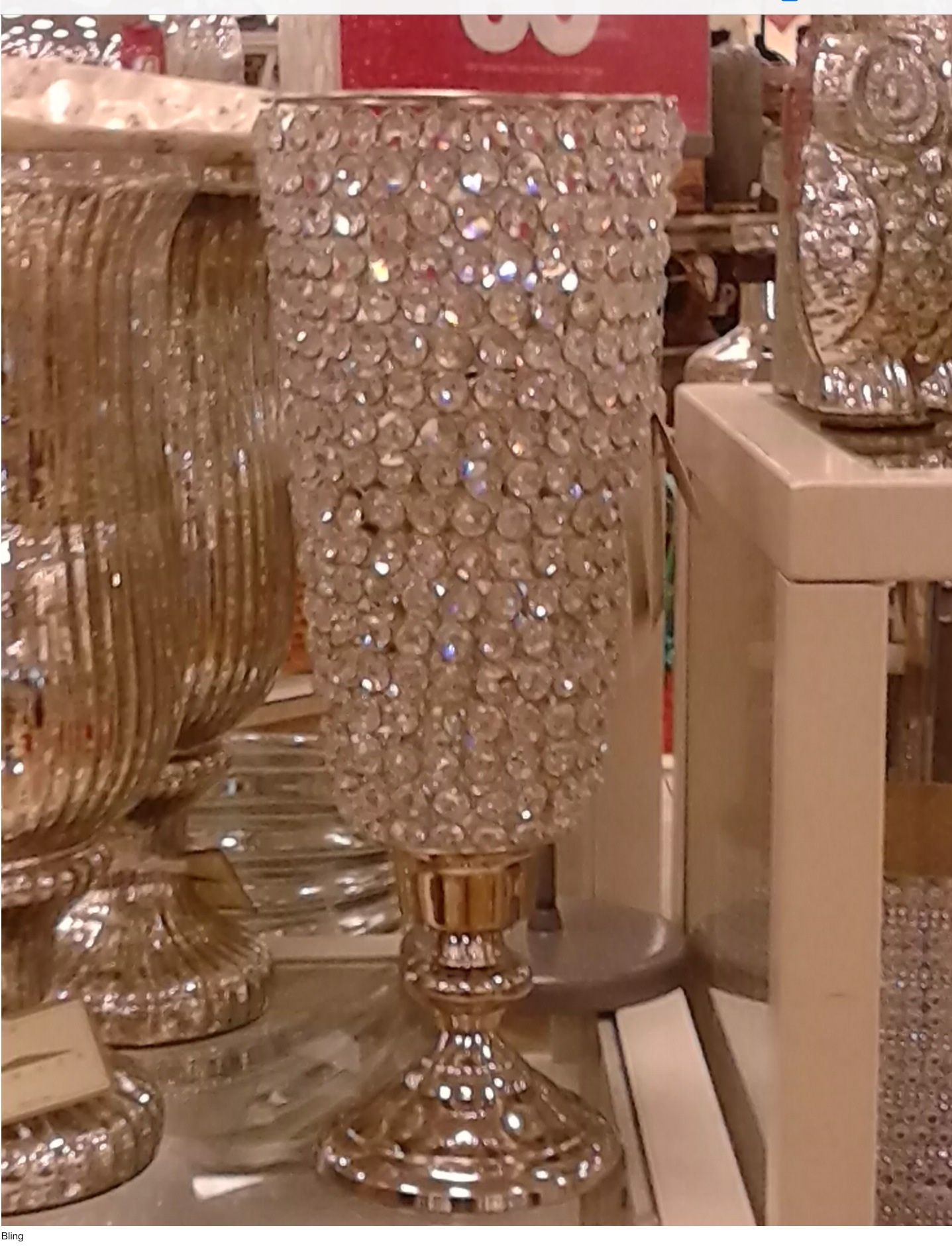 Mfg Is Hometrendz Out Of Georgia Found This At HomesGood Perfect For A Bling Wedding Could Add Vase In Center