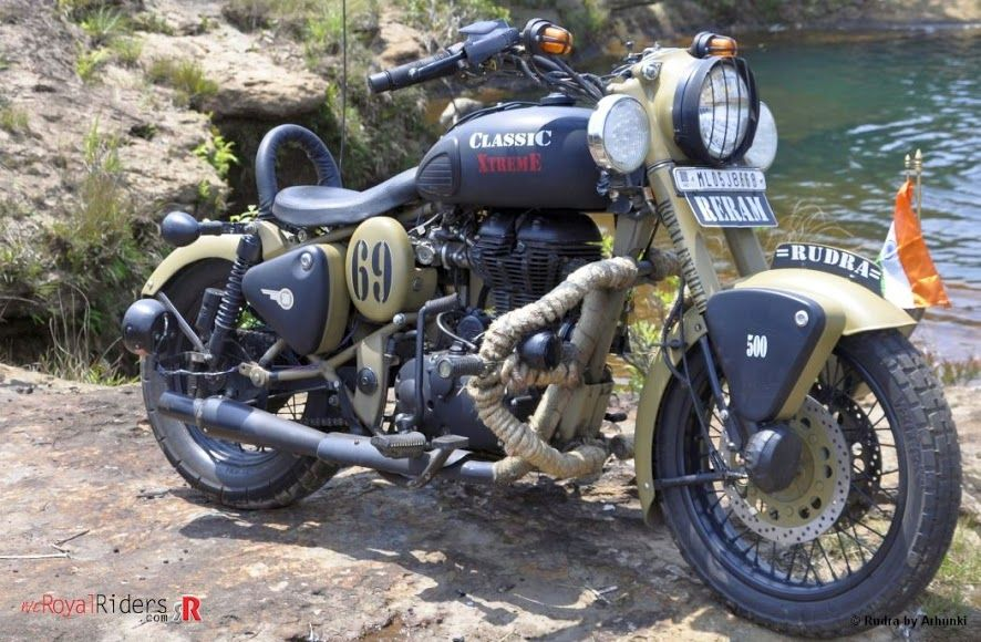 A Royal Enfield perfectly upgraded as a touring bike.. Loved the modifications done..