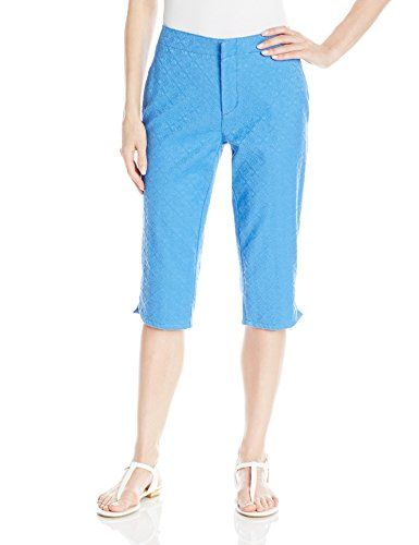NYDJ Womens Kaelin Skimmer Jacquard Stellar Blue 2 ** Click image for more details.