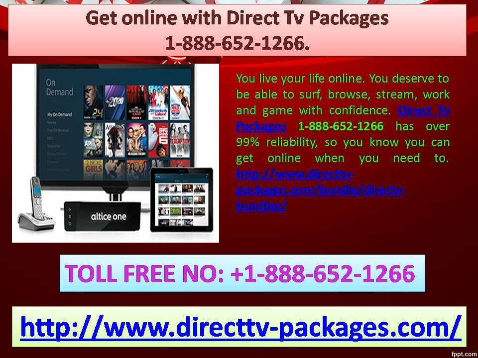 Get online with Direct Tv Packages 18886521266.