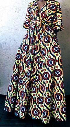 Tendance robes de soirée : Robe dété maxi imprimé africain