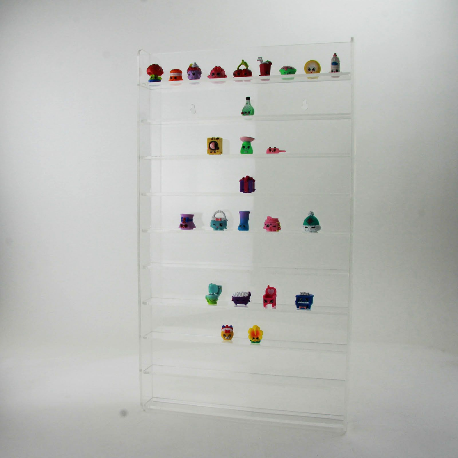 Shopkins Display Stand Wall Mounted 3 Colours Acrylic Collectables Figures