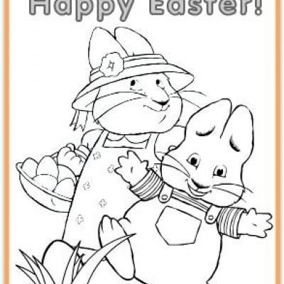 Max & Ruby Easter Egg Coloring Page {printable] | Pinterest | Semana ...