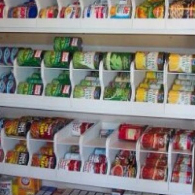 take soda can dispensers that you put in the fridge use them in your pantry to organize canned. Black Bedroom Furniture Sets. Home Design Ideas