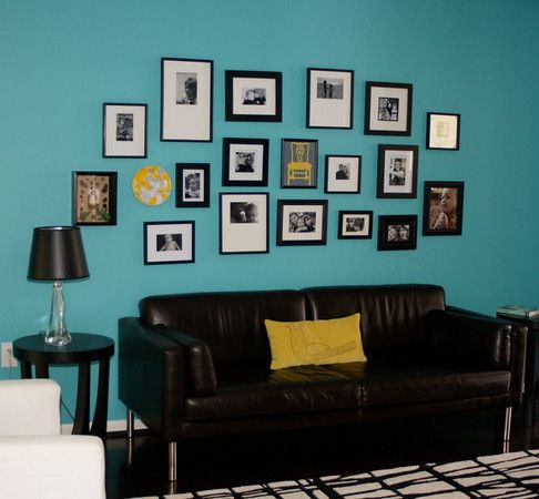 Turquoise Black And A Splash Of Yellow Master Bed Yellow Living Room Black Living Room Decor Teal Living Rooms