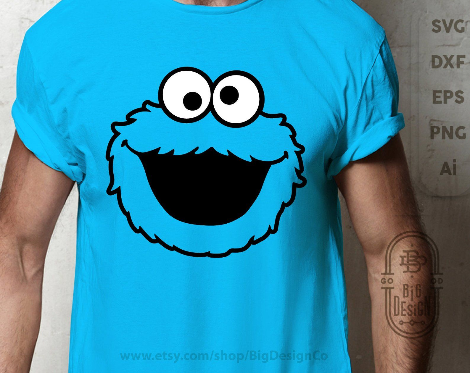 4pc Cookie Monster Svg Cookie Monster Party Sesame Street Svg Cookie Monster Head Svg C Elmo Birthday Party Cookie Monster Party Birthday Party Decorations