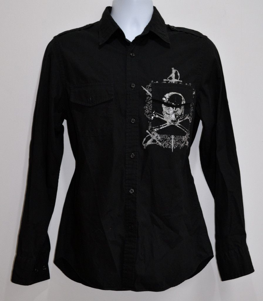 Express- Men's Black L/S Boundless Graphic Shirt