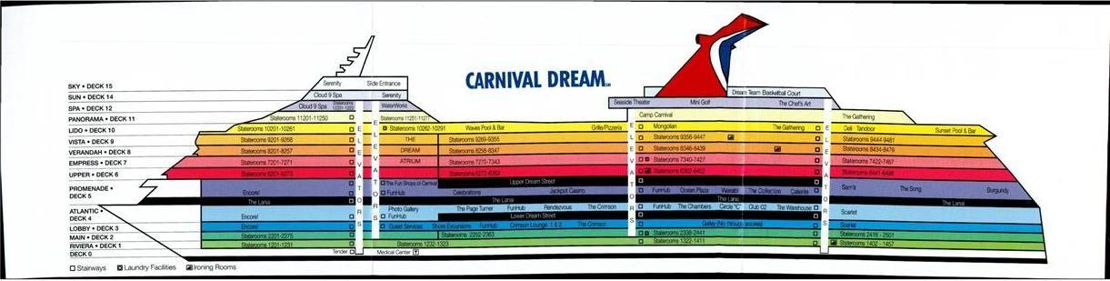 Carnival Dream Carnival Dream Deck Plan Index Dream Deck Deck