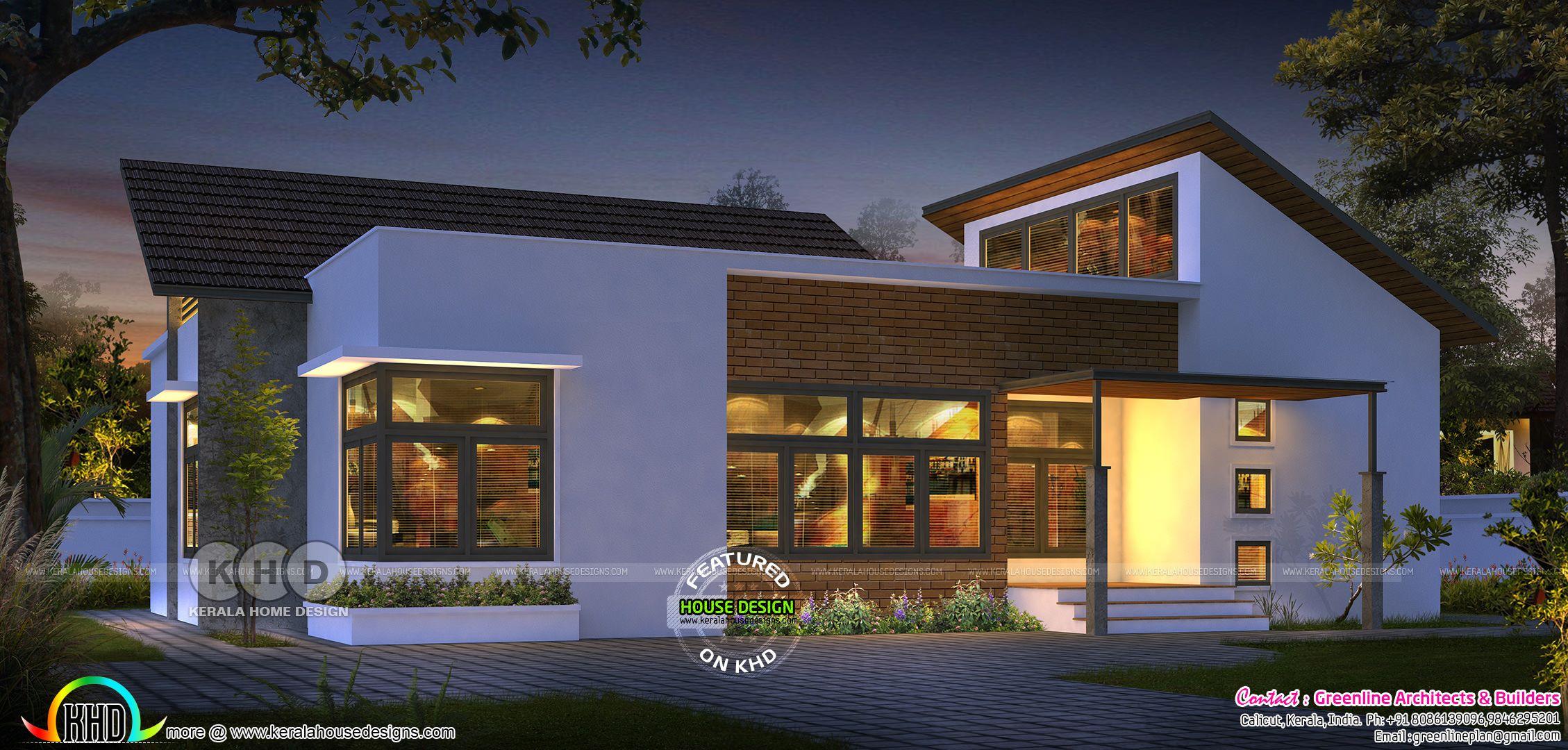 Ultra modern Single floor house design ₹15 Lakhs in 2020 ...