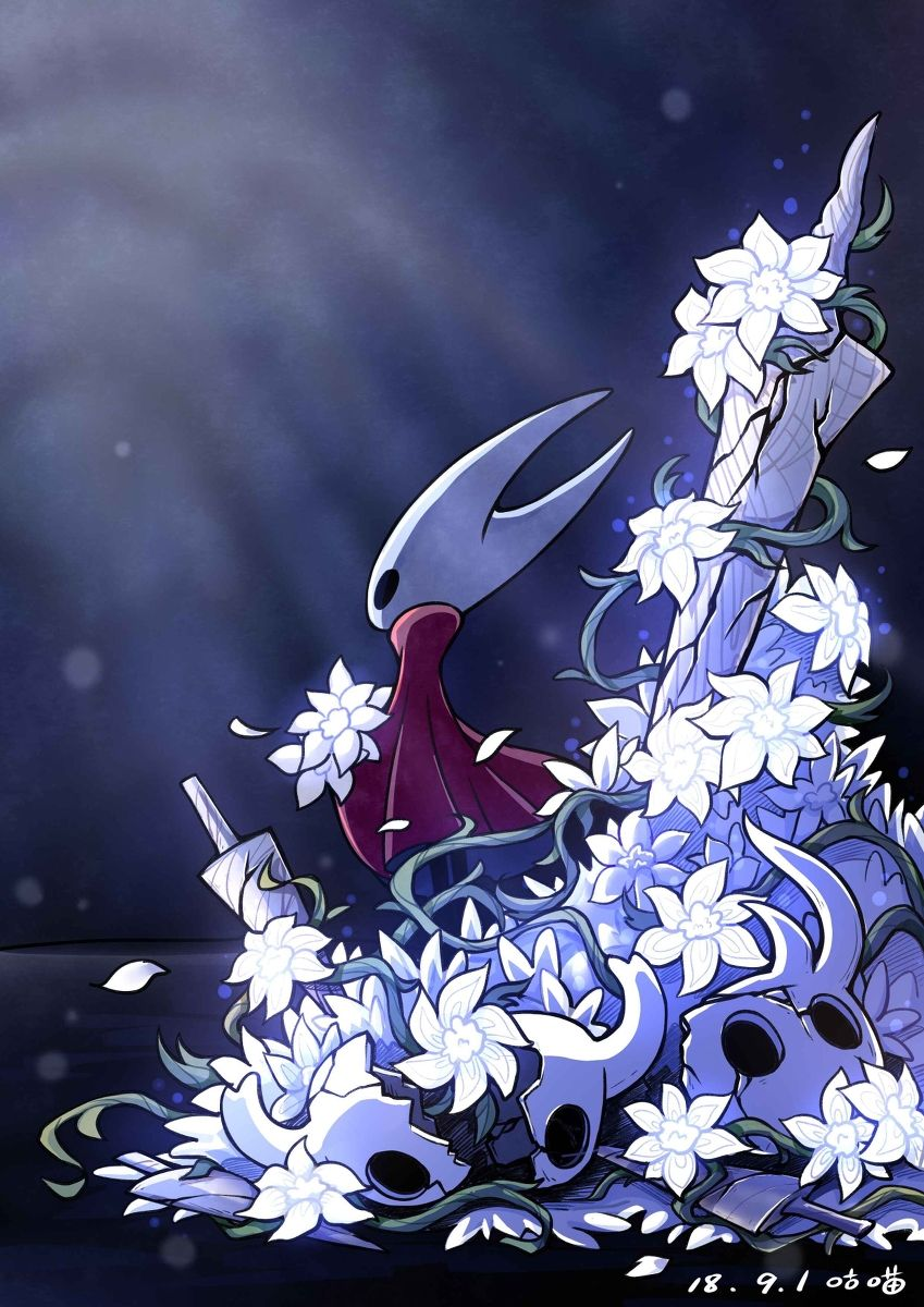 The Hornet Of The Hunt Pixiv 丑猫咕喵 Hollow Knight イラスト アート キャラクターデザイン