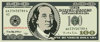 Printable Mini Hundred Dollar Bill Printable Play Money Money Template Play Money