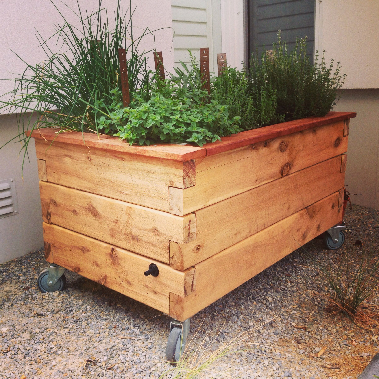 putting wheels on a raised garden planter google search