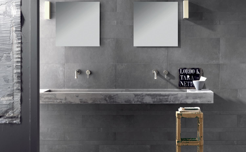 Salle de bain beton cir et carreaux de ciment recherche - Ciment cire carrelage ...
