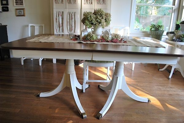 Dining Table Before And After Plus Tutorial An Oregon Cottage Dining Table Makeover Rustic Dining Furniture Antique Dining Tables