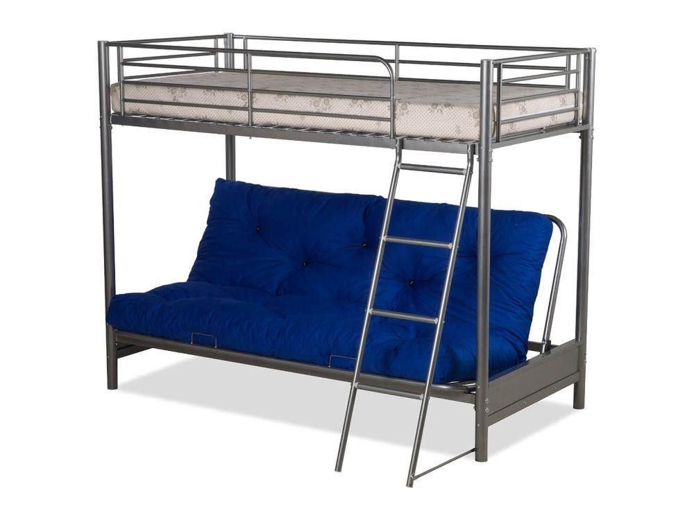 Accommodate Your Children And Their Friends With This E Saving Futon Bunk Bedplease Note Frame Fits A Single Mattress Double