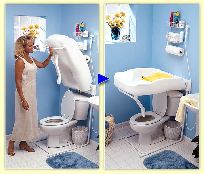 ShowerBaby: Fold Down Diaper Changing Table